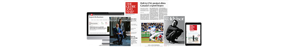 Start home delivery of The Globe and Mail